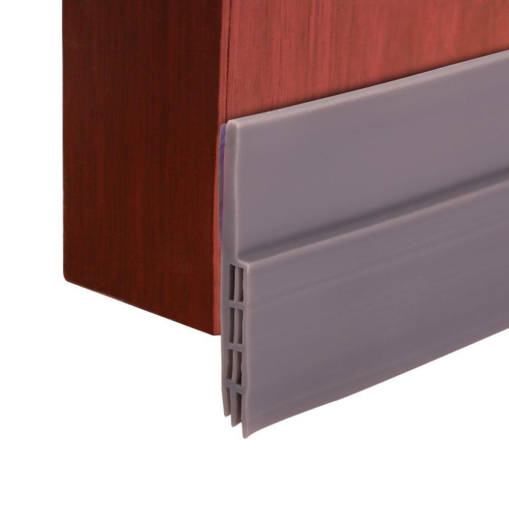 ccmart bajo puerta barrido Weather adhesiva para desmontar de proyecto de puerta, puerta parte inferior de sellado para Bugs prueba insonorizació n y ahorro de energí a, 5 cm de ancho x 100 cm de longitud, negro