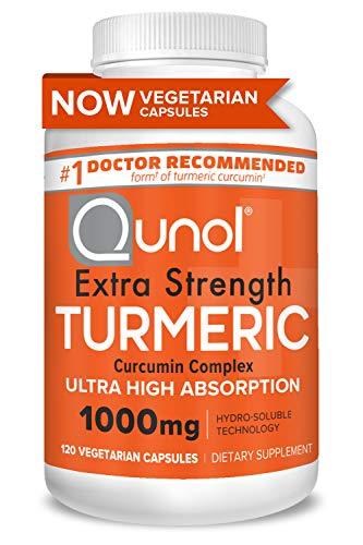 Turmeric Curcumin Capsules, Qunol with Ultra High Absorption 1000mg, Alternative to Turmeric Curcumin with Black Pepper…