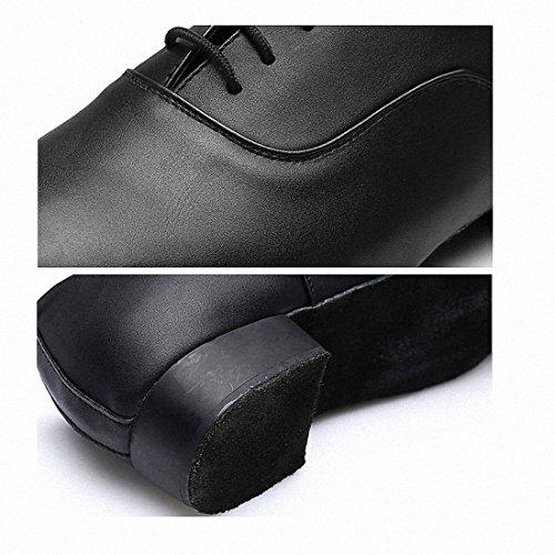 MQ - Zapatillas de danza para hombre negro negro