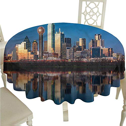 ScottDecor Table Cover USA,Trinity River High-Rise Centre Christmas Tablecloth Round Tablecloth D 50