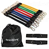 Leg Resistance Bands Set - 13 Pieces with Carry Bag by fitnessXzone Bild