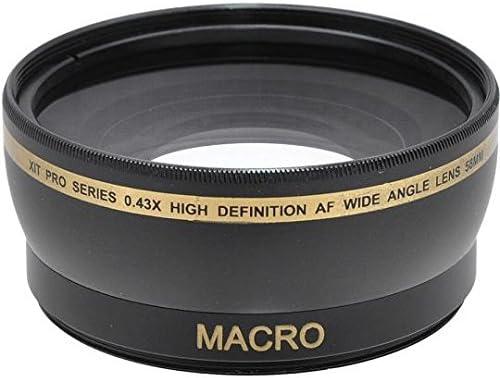 0.43x Wide Angle Lens for Nikon D3400 D3500 D5600 with Nikon AF-P 18-55mm Lens