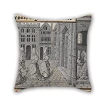 Oil Painting Lieven Van Lathem (Flemish - Miracle Of The Adulterous Woman's Repentance Pillow Cases 20 X 20 Inches / 50 By 50 Cm For Indoor Home Wedding Adults Saloon Home Theater With Twin Sides