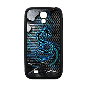 Morimo Custom Protective Phone Case for SamSung Galaxy S4 I9500,Flying Blue Dragon Laster Technology PC and TPU Cover by ruishername