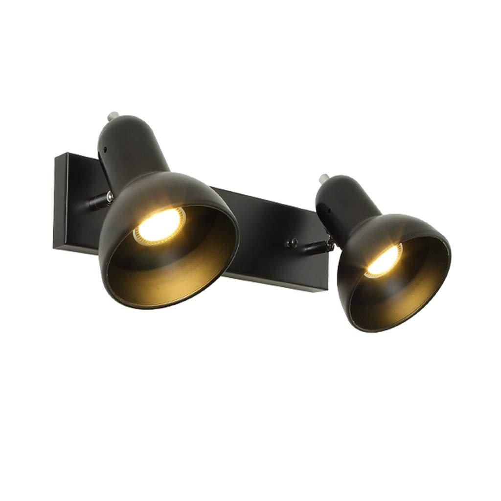 ブラックレール2スポットライトトラックウォールライティング、LED 31Wベルスクエアベース120°回転可能ウォールランプ、COBシングルスポットライト天井スポットライト夜光   B07HK5J8PB