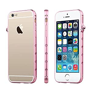 iVAPO iPhone 6 4.7inch Case, Premium Metal Bumper Case, Luxury Slim Fashion Frame For iPhone 6 4.7inch (MM493) (Pink)