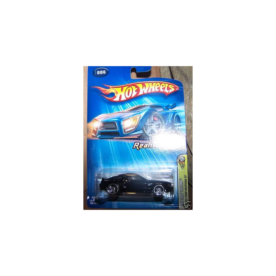 Hot Wheels Realistix Ford Mustang GT 2005 #006 #6 BLACK  Exclusive