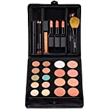 Jill Kirsh Color ultimate all in one mineral make up palette (complete kit w/ eyeshadow, lipstick, blush, brushes, contour, gloss, mascara) – not tested on animals –Deep Blonde & Redhead – MADE IN USA