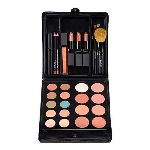 Jill Kirsh Color ultimate all in one mineral make up palette (complete kit w/ eyeshadow, lipstick, blush, brushes, contour, gloss, mascara) - not tested on animals -Deep Blonde & Redhead - MADE IN USA