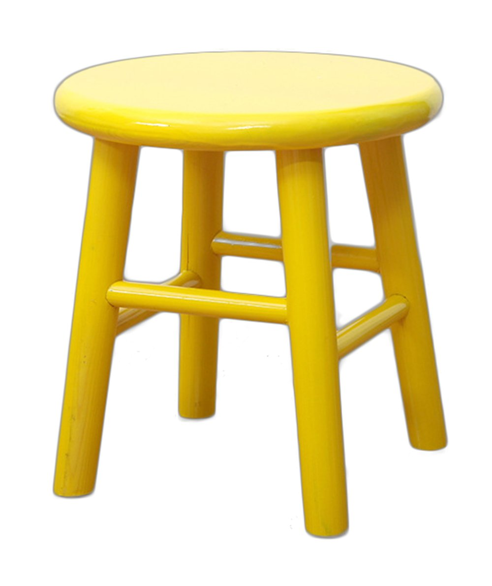 Sigmat Wood Kid Round Stools and Toddler Chair Yellow