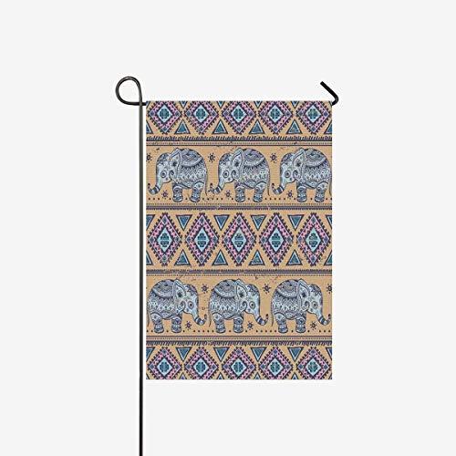 InterestPrint Vintage Tribal Indian Lotus Ethnic Elephant Ga