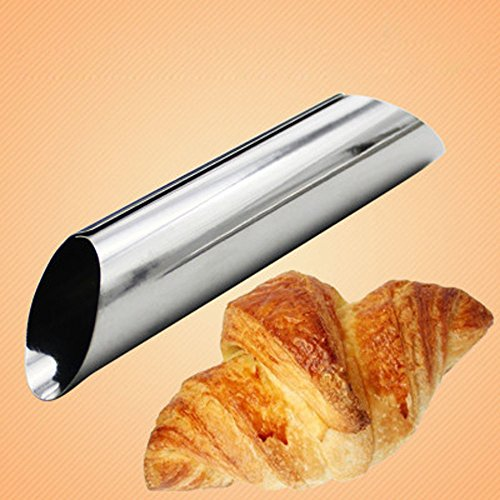 3PCS/set Stainless Steel Tubes Dessert Non Stick Danish Bread Cannoli Croissant Mold Bake Tubes Decor Puff Cone, Baking DIY Accessory, Easy to Use and Clean- -