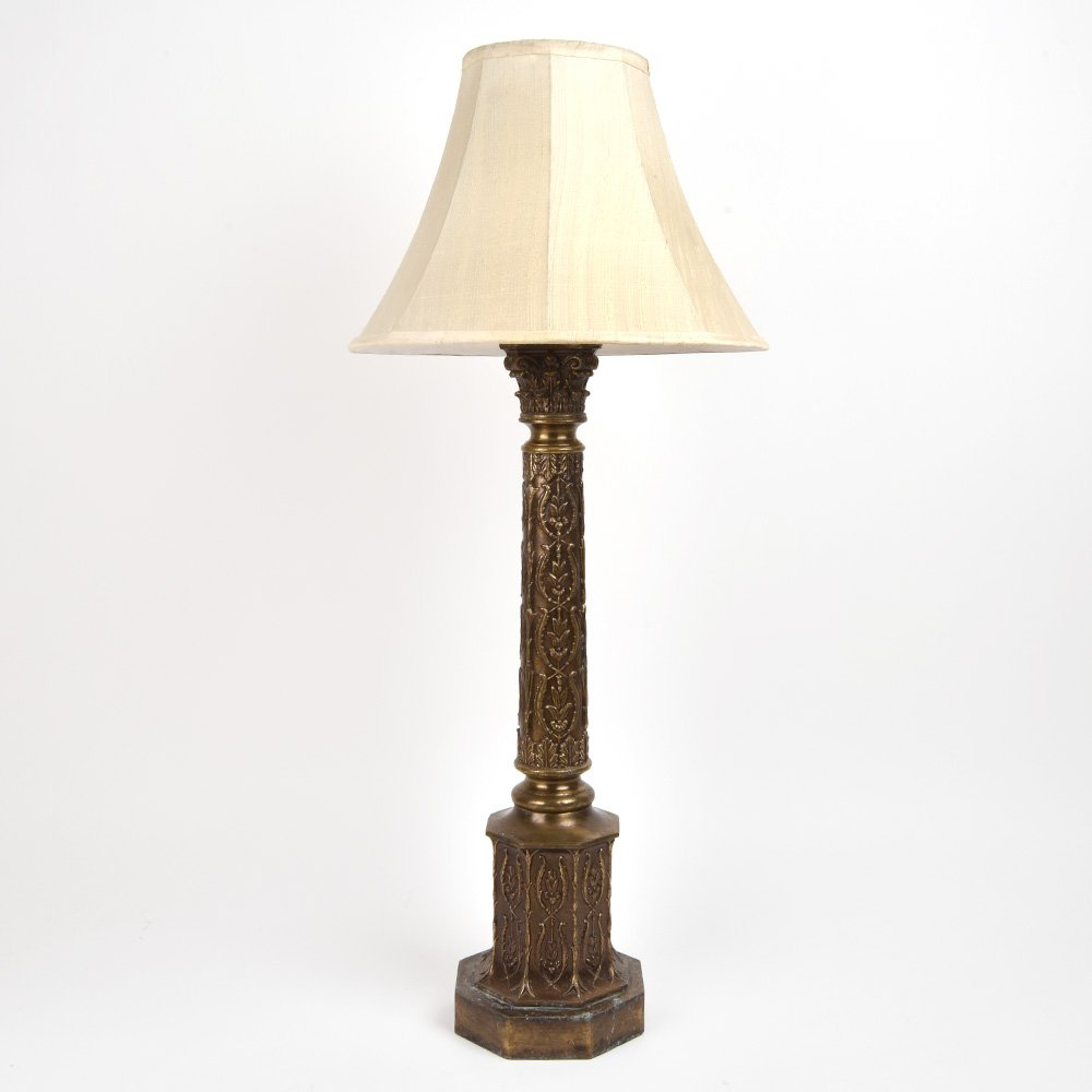 Handmade Intricately Designed Victorian Table Lamp with Shade Antique Look for Living Room / Outdoor IndianShelf Online by Indian Shelf
