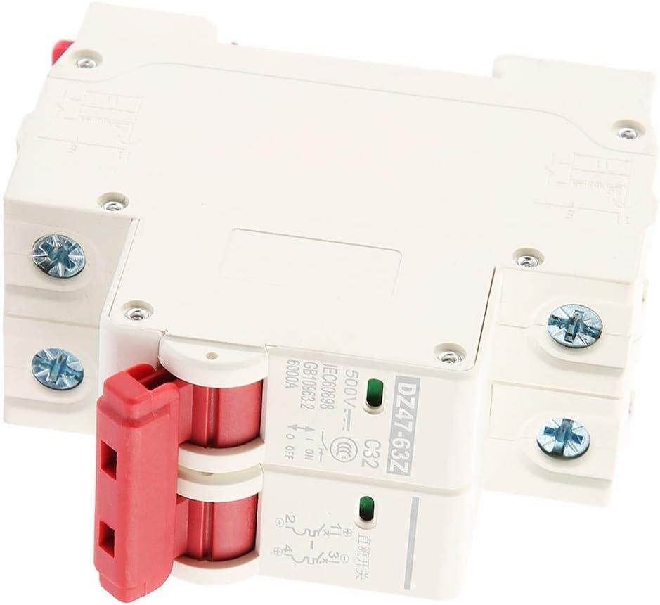2P DC 500V 32A Leistungsschutzschalter MCB Sicherheits /Überstromschutzschalter DZ47-63Z-2P