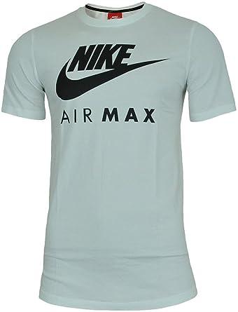 finest selection 25923 8cb6e Nike Air Max Tee Herren Sport Fitness Baumwolle Shirt T-Shirt Weiß Schwarz   Amazon.de  Bekleidung