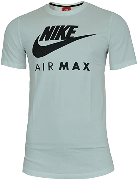 46bfb9abe4ce3 Nike Air MAX tee Hombre Camiseta Algodón T-Shirt Deportiva Fitness Blanco  Negro