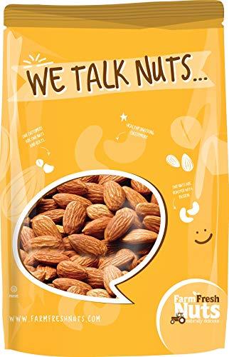 Fresh Roasted Nuts - Dry Roasted Almonds Black Lava Sea Salt (1 lb)