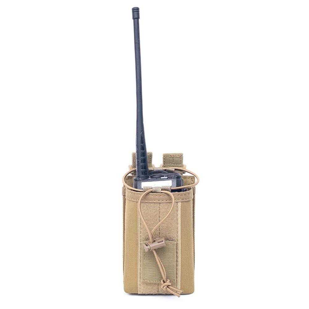 LIVIQILY メンズMOLLEアウトドアハント多機能アクセサリーバッグ サンドリーバッグ 鍵 携帯電話 ウエストバッグ ポーチケース B07MQBCNL8 タン