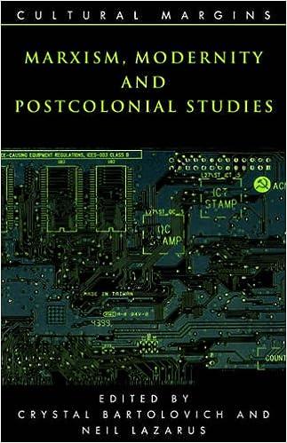 Marxism Modernity Postcolonial Stud (Cultural Margins)