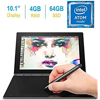 2017 Newest Lenovo Yoga Book 10.1-inch FHD Touch IPS 2-in-1 Tablet PC, Intel Atom x5-Z8550 1.44GHz, 4GB DDR3 RAM, 64GB SSD, Bluetooth, HD Graphics 400, ...