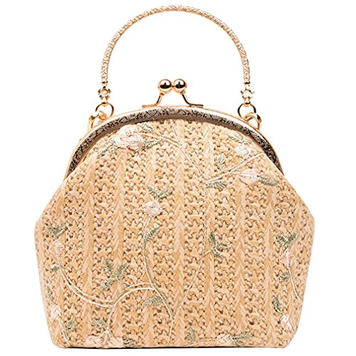 Straw Bag Bag Lady Evening ZJ amp;OS Shell Mini kahki Beach Chain Clutch Tote Shoulder Clip Bag NEW q8w0vwxB