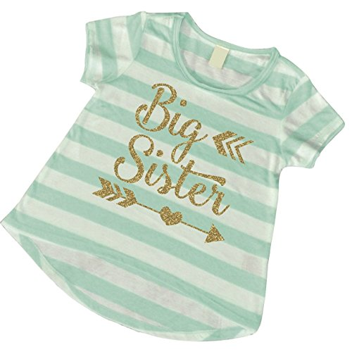 Big Sister Shirt, Baby Pregnancy Announcement Big Sister Outfit (5T)
