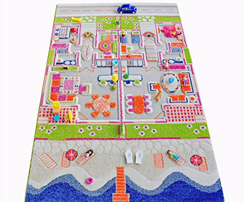 IVI Beach House 3D Play Rugs, Medium by IVI