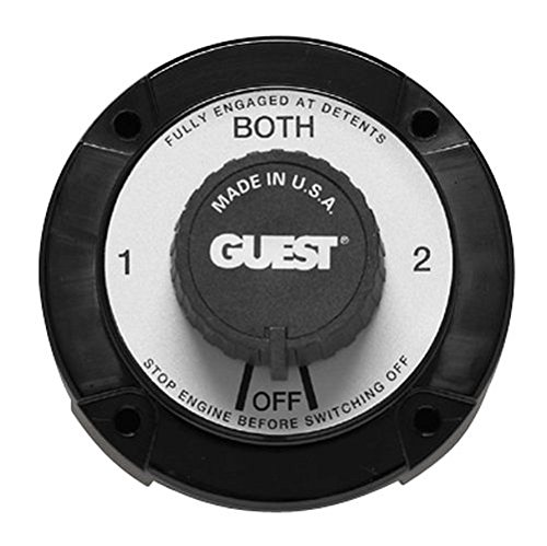 Guest 2110A Universal Mount Marine Battery Selector Switch with Alternator Field Disconnect (230 Continuous, 345 Momentary Amps) (Universal Marine Housing)