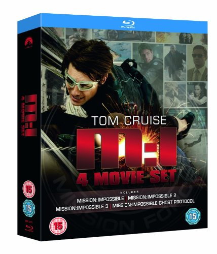 Mission Impossible: Quadrilogy (1-2-3-4 Box Set) [Blu-ray] (Region Free) (Mission Impossible Movie Set)
