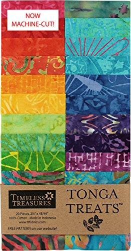 Batik Strips (Tonga Treats Batiks Zing Strip Jr 20 2.5-inch Strips Jelly Roll Timeless Treasures Fabrics)