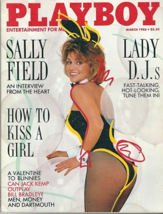 Playboy Magazine, Entertainment For Men, March 1986, Sally Field