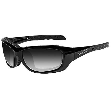 47d37af3753c Amazon.com: Wiley X Gravity Sunglasses, Light Adjusting Smoke Grey, Gloss  Black: Sports & Outdoors
