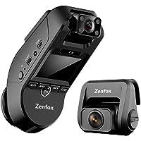 3 Channel Dash Cam, Zenfox 2K 1440P Front+1080P Interior+1080P Rear Triple Dash Camera, Dual-Band WiFi, IR Night Vision…
