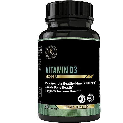 IPro Organic Supplements Vitamin D3 – 60 Soft Gels