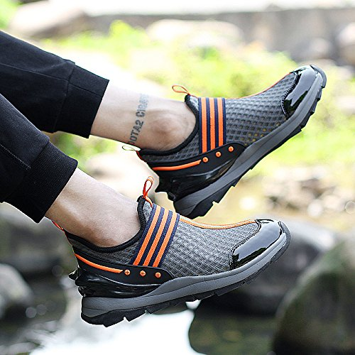 EnllerviiD Mens Slip On Casual Fashion Sneakers Light Weight Breathable Athletic Gym Sports Shoes 8358 Grey 1GkIm1iDQk