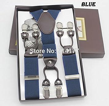 repliche nuovi prodotti per comprare LLZGPZBD Bretelle/Blu 6 Clip Bretelle Moda Bretelle Regalo ...