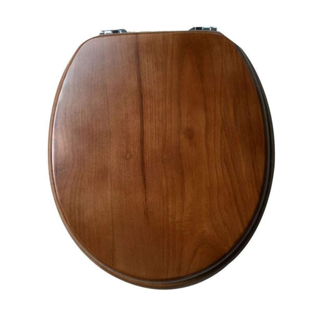 LXYFMS Solid Wood Toilet Seat, Quick Release Top Fixed Adjustable Hinge Toilet Cover, 40~47cmx36~38cm Toilet lid (Color : OneColor, Size : 40~47cm36~38cm)
