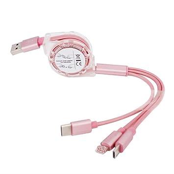YCW Cable Triple USB Caliente Cargador De Teléfono Móvil ...