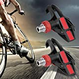 Alomejor 1 Pair Red and Black Aluminum Alloy