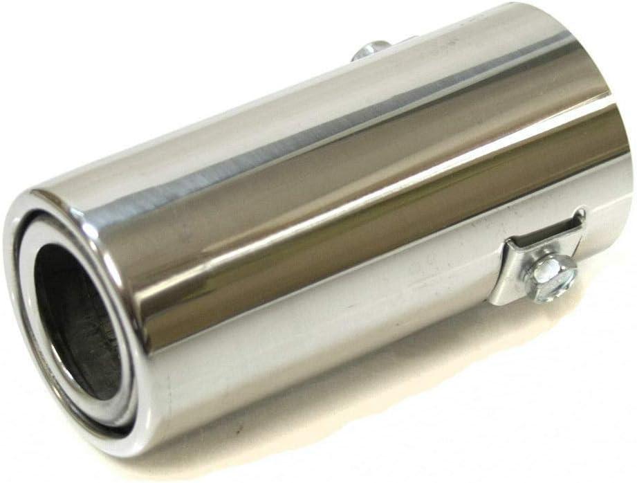 Autohobby 3190 - Embellecedor de tubo de escape, universal, de acero inoxidable hasta 46 mm, cromado, ABCGHJ CC 3 4 5 6 7