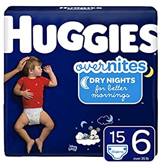 Huggies OverNites, Diapers, Size 6, 15 ct