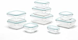 Oven and Microwave Glass Food Storage Containers 18 Piece Set home organization plastic containers storage containers for organizing storage container Kitchen accessories
