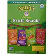 Annie's Homegrown Organic Vegan Fruit Snacks Variety Pack, 42 Count, 2LBS 2OZ (946G)