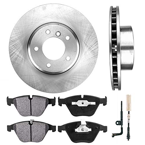 CRK13982 FRONT 324 mm Premium OE 5 Lug [2] Brake Disc Rotors + [4] Metallic Brake Pads + Sensors