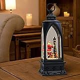 "Eldnacele 12"" Christmas Snow Globe Lantern"