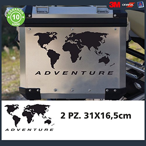 2 Adesivi Stickers Planisfero BMW R 1200 1150 1100 gs valigie adventure R GS adv Just Go Online