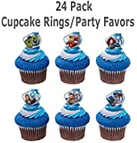 Marvel Avengers Super Hero Rings (24 pc) Cupcake Rings. Featuring Thor, Iron Man, The Incredible Hulk, Captain America, Hawkeye, and Black Widow