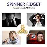 DIKE Spinner Fidget EDC ADHD Focus Toy Ultra Durable High Speed Bearings 3-8 Min Spins No noise No jitter Precision Copper material