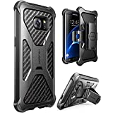i-Blason Prime Series Case Designed for Galaxy S7 Edge, [Kickstand] Samsung Galaxy S7 Edge 2016 Release [Heavy Duty] [Dual Layer] Combo Holster Cover case with [Locking Belt Swivel Clip] (Black)