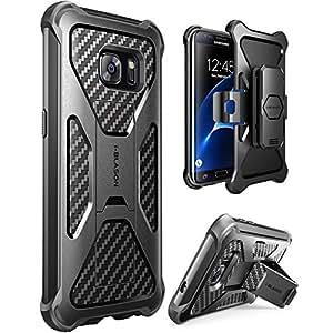 Galaxy S7 Edge Case, i-Blason Prime [Kickstand] Samsung Galaxy S7 Edge 2016 Release [Heavy Duty] [Dual Layer] Combo Holster Cover case with [Locking Belt Swivel Clip] (Black)